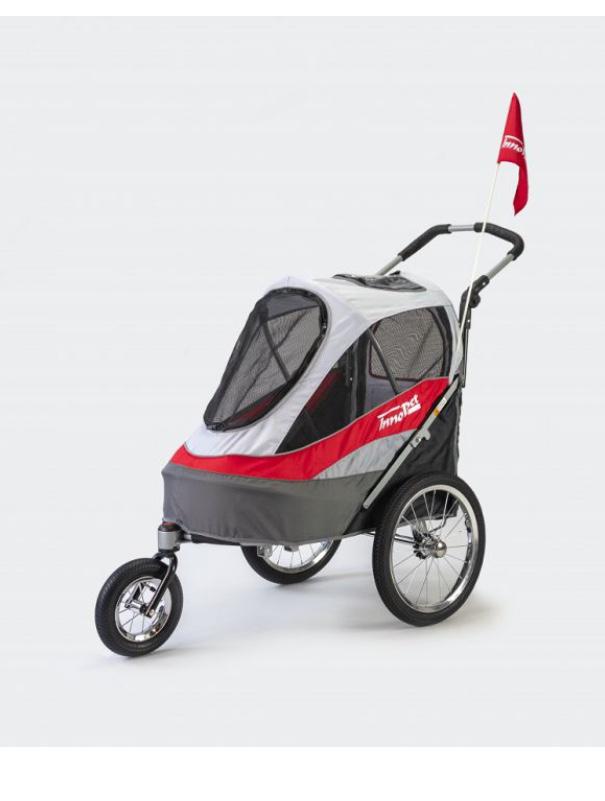 Afbeeldingen van InnoPet® Sporty Dog Trailer Deluxe rood grijs